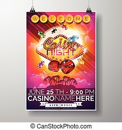 Graphic_151_63_casino - Vector Party Flyer design on a...