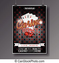 Graphic_151_72_casino - Vector Party Flyer design on a...
