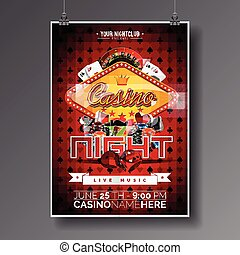 Graphic_151_73_casino - Vector Party Flyer design on a...