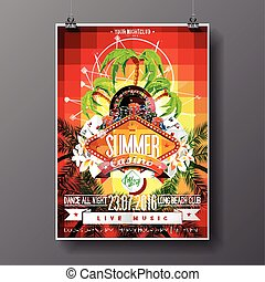 Graphic_151_74_casino - Vector Party Flyer design on a...