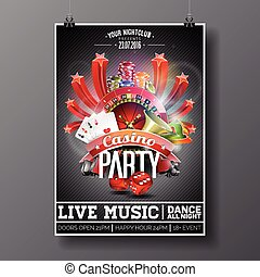 Graphic_151_76_casino - Vector Party Flyer design on a...