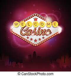 Graphic_152_13 - Vector illustration on a casino theme with...