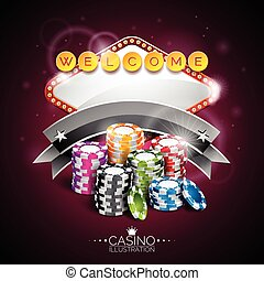 Graphic_152_14 - Vector illustration on a casino theme with...