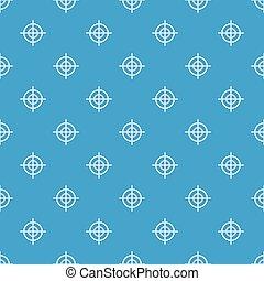 Target crosshair pattern seamless blue - Target crosshair...