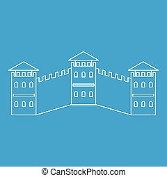 The Great Wall icon, outline style - The Great Wall icon...