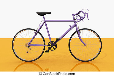 Racing bicycle, side view - Computer generated 3D...