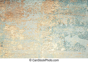 Wall decor texture - White and golden messy wall stucco...