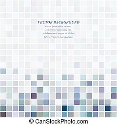 Colored abstract pixel square mosaic background design
