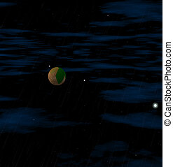 Mysterious planet in the night sky