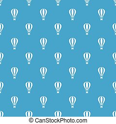 Hot air balloon pattern seamless blue