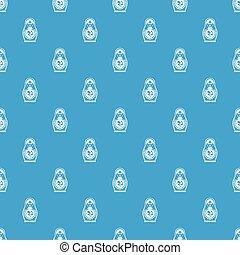 Matryoshka pattern seamless blue - Matryoshka pattern repeat...