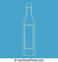 Vinegar bottle icon, outline style - Vinegar bottle icon...