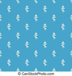 Orthodox cross pattern seamless blue - Orthodox cross...