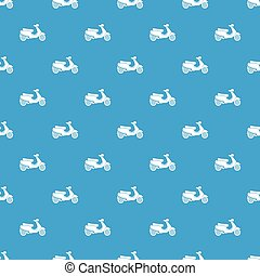 Vespa scooter pattern seamless blue - Vespa scooter pattern...