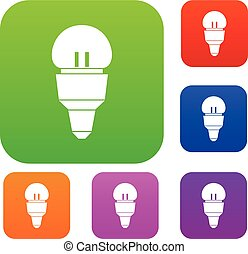 Reflector bulb set collection - Reflector bulb set icon in...