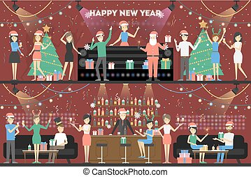 New year party.