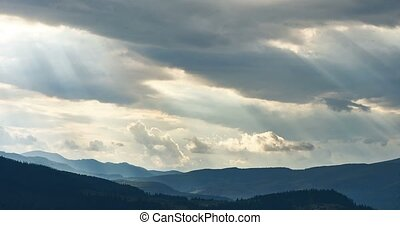 Clouds thickening in mountains - Time lapse video of clouds...
