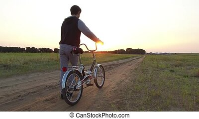 Boy teenager riding a bicycle. Boy teenager riding bicycle...