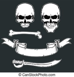 Pirate Flag Toolkit - Vector Elements for pirate sign....
