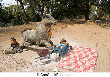 Prayer Offerings at Phnom Bakheng, Cambodia - Image of...