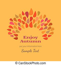 Autumn decorative poster