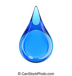 water drop on white background 3d rendering