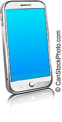 Phone Cell Smart Mobile Black, White and Silver 3D