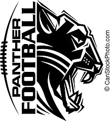 panther football team design with mascot and laces for...