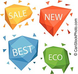 Different shopping tags vector set. Banners collection isolated on white