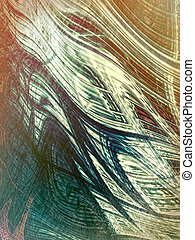 Chaos abstract background - digitally generated image -...