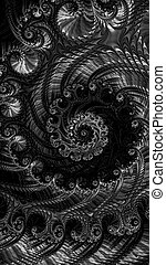 Abstract lacy spiral - digitally generated image - Abstract...