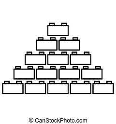 Building block black color icon . - Building block it is...