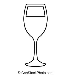 Glass of wine black color icon . - Glass of wine it is black...