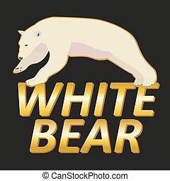 Polar white bear logo vector design