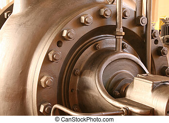 Heavy pumping machinery - vintage industrial detail Retro...
