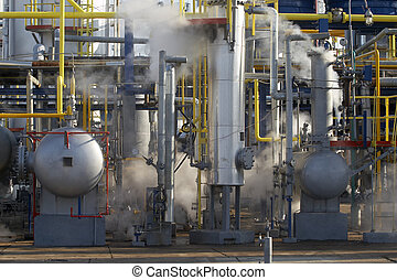 industrial 6 - close up of industrial pipes of oil industry...