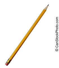 pencils 2 - close up of pencil on white background with...