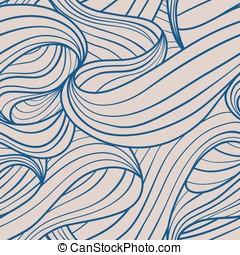 Nahtloses Wellen Rapport blau