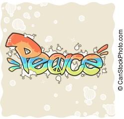 Peace Graffiti Vektor