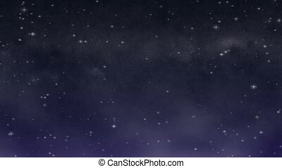 Starry Night Loop HD widescreen - A deep, dark blue and...