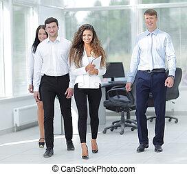 jovem, Grupo, negócio, escritório, pessoas