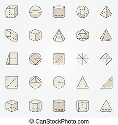 Geometry colorful icons. Vector set of creative geometric...