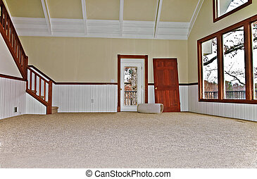 Empty Room with New Carpet - Newly installed carpet in a...