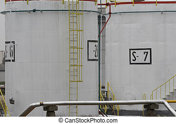 oil industry 6 - close up of industrial tanks of oil...