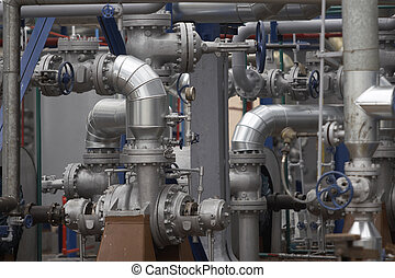 oil industry 7 - close up of industrial pipes of oil...