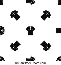 Men polo shirt pattern seamless black