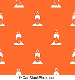 Man with tablets over head pattern seamless - Man with...