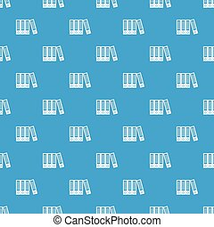 Office folders pattern seamless blue
