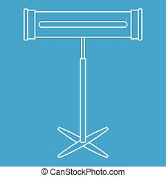 Halogen or infrared heater icon, outline style - Halogen or...