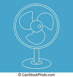 Electric table fan icon, outline style